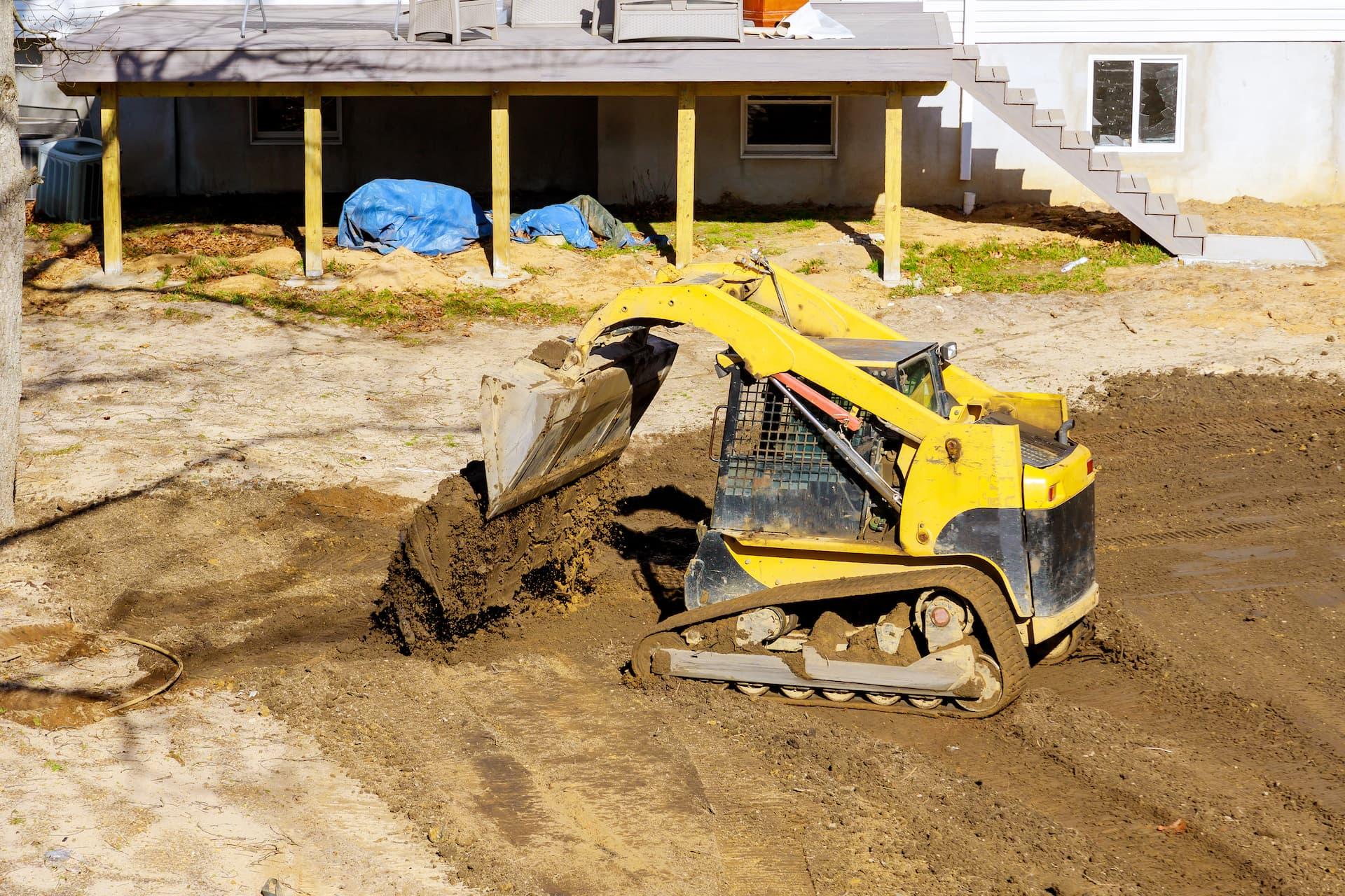 Construction site grading